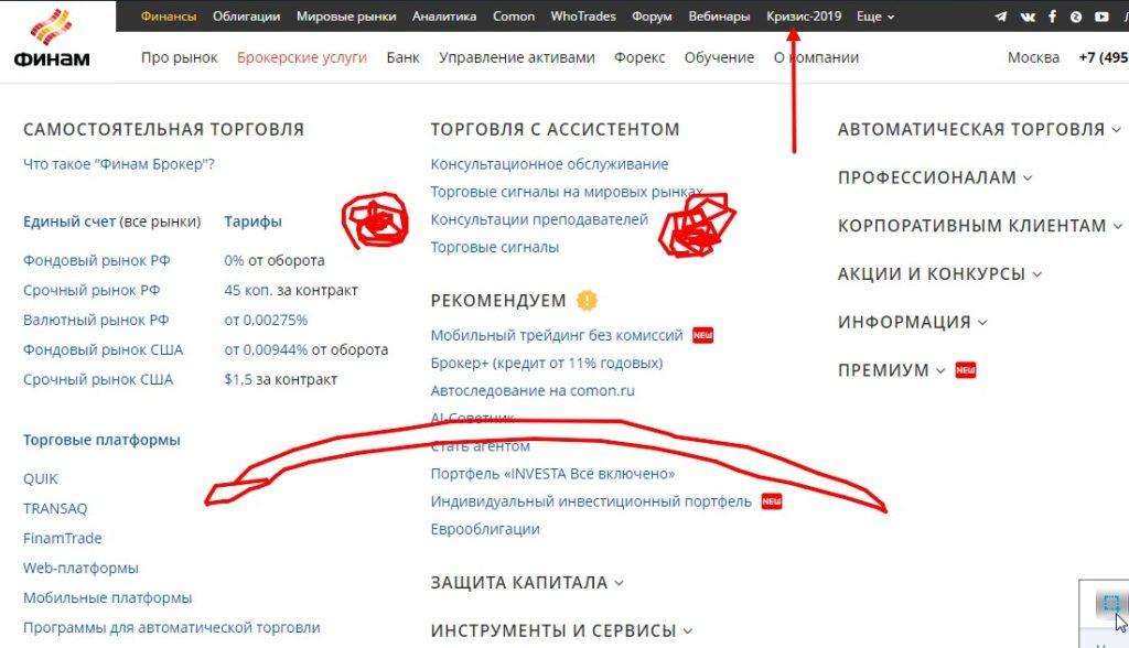 сайт финам ру главная страница
